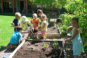Getting into nature is a key component of the education at Montessori Children's House.