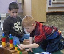 Group activities foster learning at Montessori Children's House, West Bend, Wisconsin.